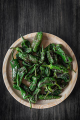 pimientos padron grilled spanish green chilli peppers tapas snack