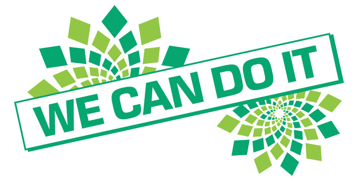 We Can Do It Floral Turquoise Green Box