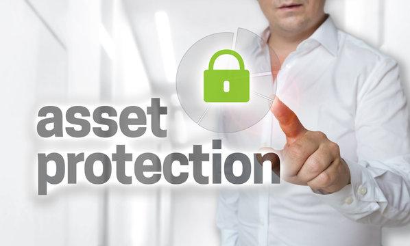 Asset protection Konzept wird von Mann bedient.