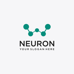 Initial Letter W Neuron Logo Vector Design Template .