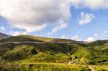 Wind turbine located in South Crete island, Greece