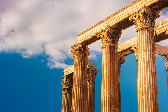 The Temple of Olympian Zeus or the Olympieion in Athens.