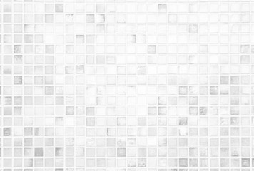 White or gray ceramic wall and floor tiles abstract background. Design geometric mosaic texture...