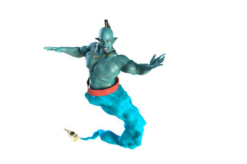the Genie from the lamp 3D render