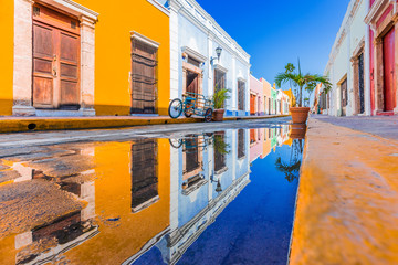 Campeche, Mexico. Street in the Old Town