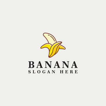 banana vector logo icon template