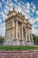 Fototapete - Arco della Pace in Milan, Italy