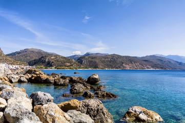 Paralia Methexis in Paleochora village, Crete island, Greece