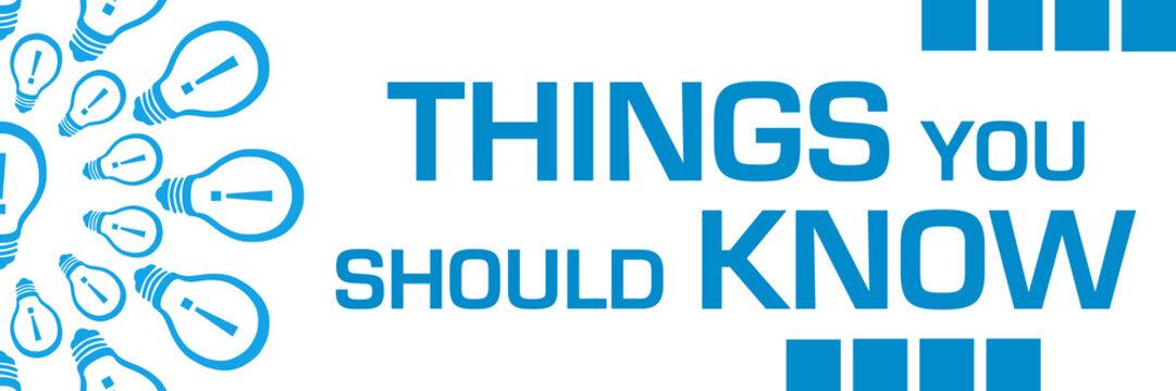 Things You Should Know Blue Bulbs Circular Horizontal