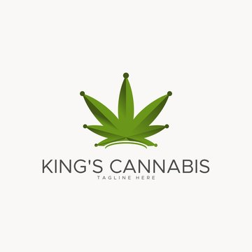 king's cannabis logo design unique