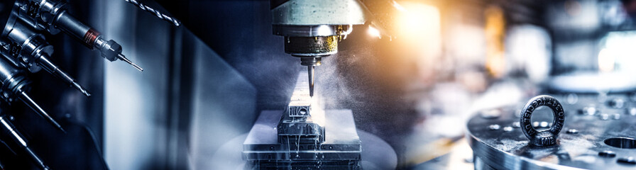 Industry Collage of CNC Machines