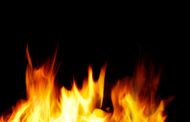 Staande foto Vlam fire background. A nice fire in a fire place