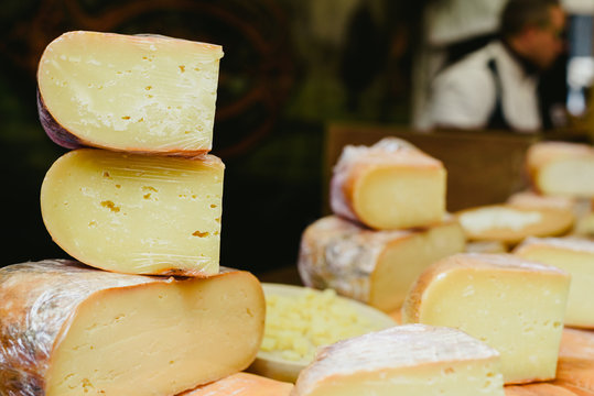 Traditional Spanish and Italian artisan cheeses.