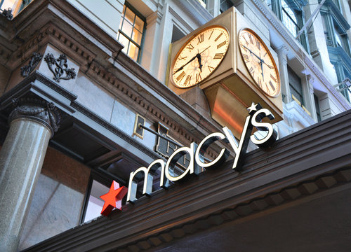 NEW YORK CITY, USA - OCTOBER 18, 2014 : Macy's store on Herald Square in Manhattan. Macy's is a famous department store