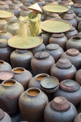 produce soy sauce in tradition village at Hungyen province, Vietnam, this is a handicraft