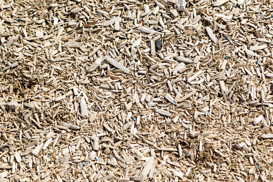 Wood chips texture from a playground
