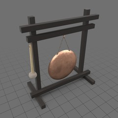 Gong with mallet