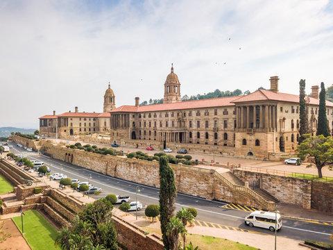 Aerial view of Union Buildings, Pretoria, South Africa
