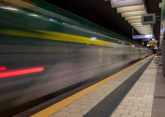 Printed roller blinds F1 Metropolitana di Milano linea verde