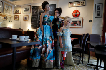 Model Daisy-May Demetre, 9 year-old double amputee who will walk the runway during Paris Fashion Week, is seen during a photo shoot a day before the luxury children's wear label Lulu et Gigi show in Paris