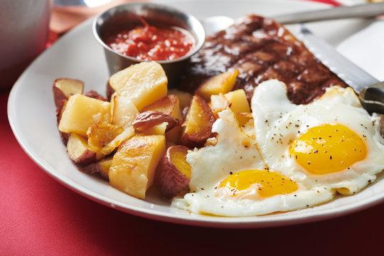 Steak and Eggs - one