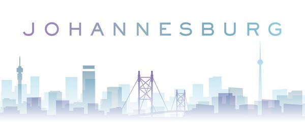 Johannesburg Transparent Layers Gradient Landmarks Skyline