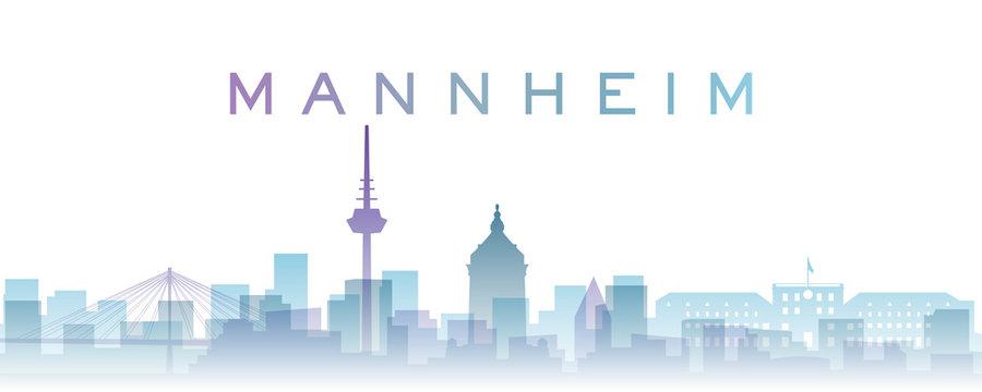 Mannheim Transparent Layers Gradient Landmarks Skyline
