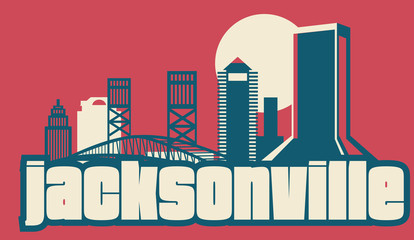 Wall Mural - Jacksonville Florida USA Skyline
