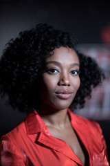 Naomi Ackie, who plays Jannah in Star Wars: The Rise of Skywalker poses for a photograph during an interview at the announcement of new Star Wars products at Pinewood Studios, Iver Heath