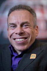 Actor Warwick Davis poses for a photograph following an interview at the announcement of new Star Wars products at Pinewood Studios, Iver Heath