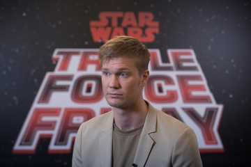 Joonas Suotamo, who plays Chewbacca in Star Wars: The Rise of Skywalker, speaks during an interview at Pinewood Studios, Iver Heath