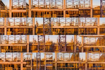 Construction Site (Collage), Atlanta, Georgia