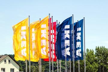 IKEA Logo on Flags