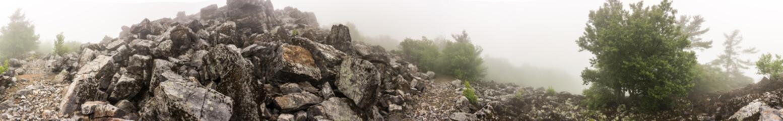 Panorama of Blackrock Mountain in Shenandoah