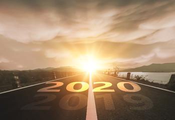 Fototapeten Lachs Start Your Life Happy New Year 2020