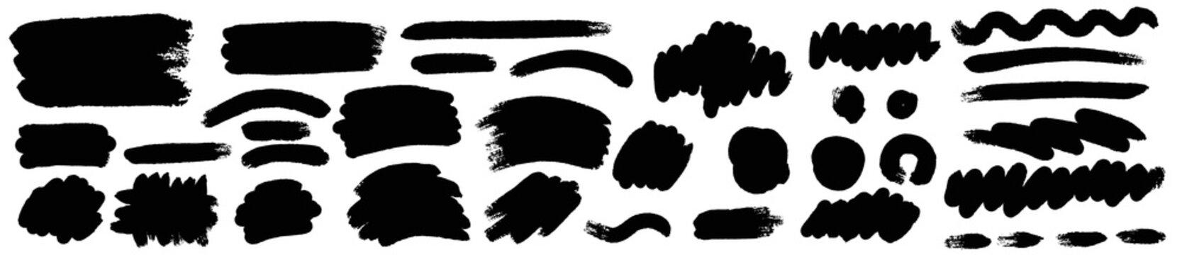 Brush paint vector set