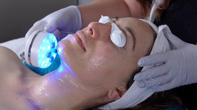 Microcurrent LED facial treatment