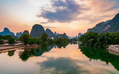 Foto op Plexiglas Guilin The Beautiful Landscape and Natural Landscape of Guilin