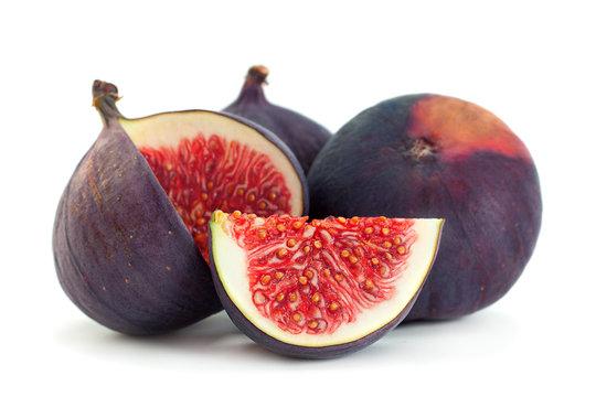 Purple fig fruit closeup