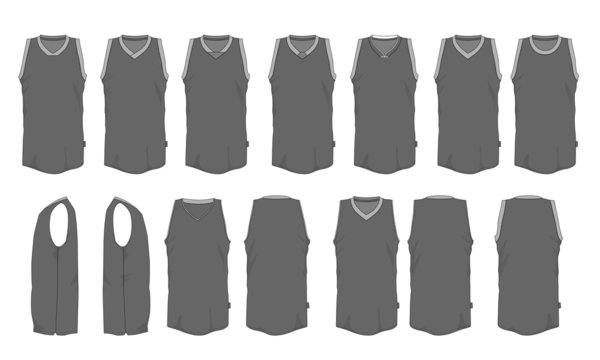 Basketball jersey uniform template mockup vector