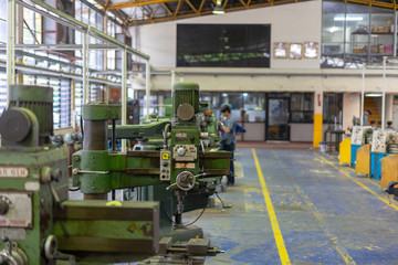 drilling, milling ,turning equipment machinery factory old