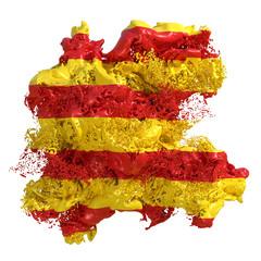 Catalonia flag liquid