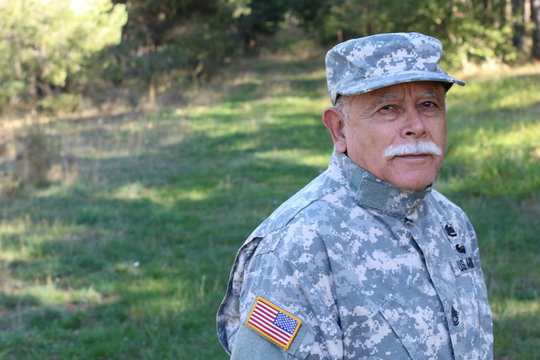Honorable retired senior army soldier