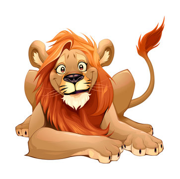Happy Lion smiling