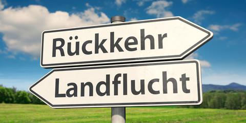 Zurück aufs Land statt Landflucht