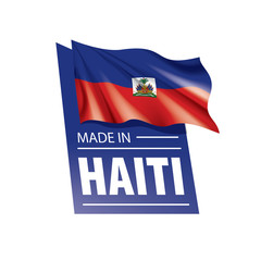 Haiti flag, vector illustration on a white background