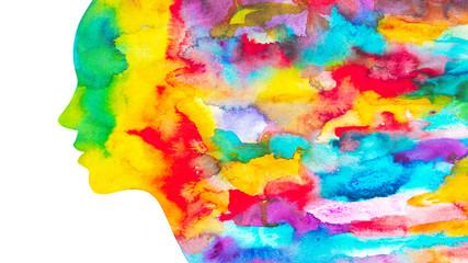 dipinto donna acquerello colori autunnali