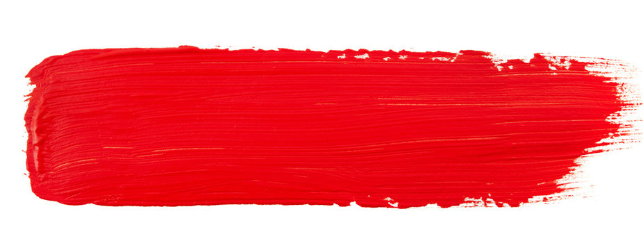 Watercolor red paint