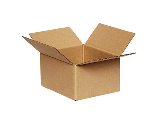 Opened craft cardboard box