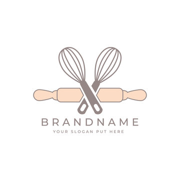 Traditional Bakery logo design template vector eps